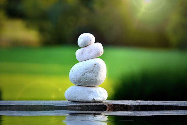 balanced meditation stones